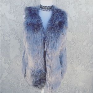 PLUSH SILVER GREY 🔥🔥 Fox Fur Vest